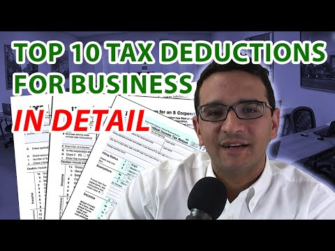 Top Business Tax Deductions