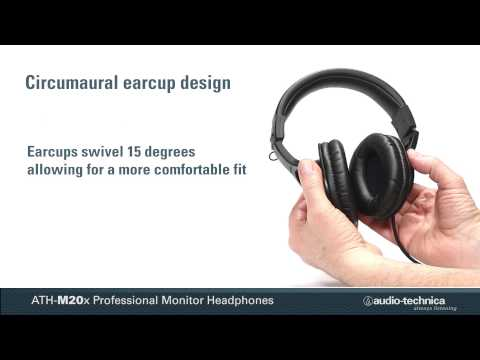 ATH-M20x Overview   Professional Monitor Headphones