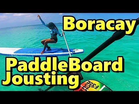 Paddleboard Jousting Boracay Philippines