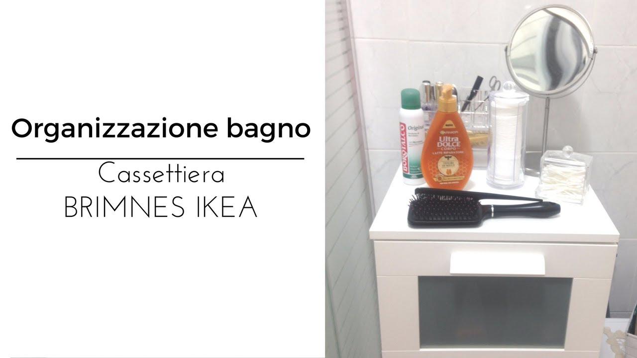 Organizzazione bagno - Cassettiera BRIMNES IKEA - YouTube