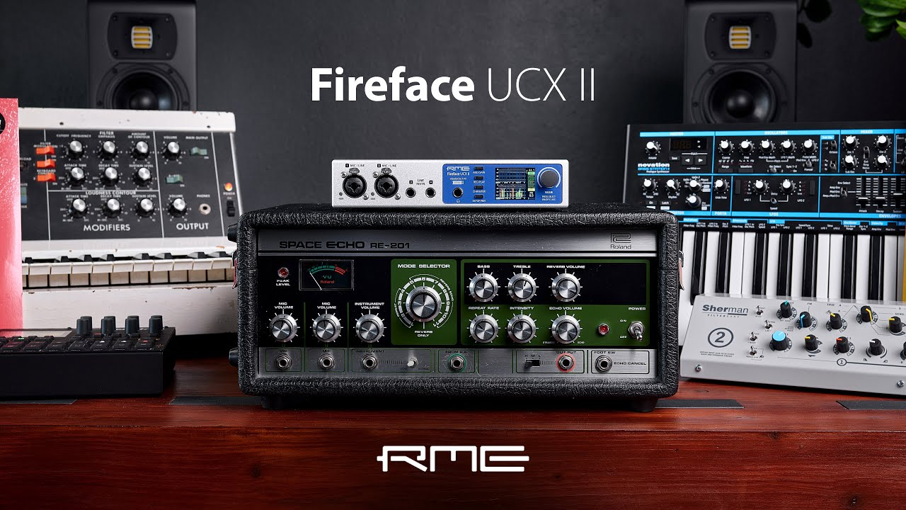 Fireface UCX II - 40-Channel 192 kHz, advanced USB Audio Interface - YouTube