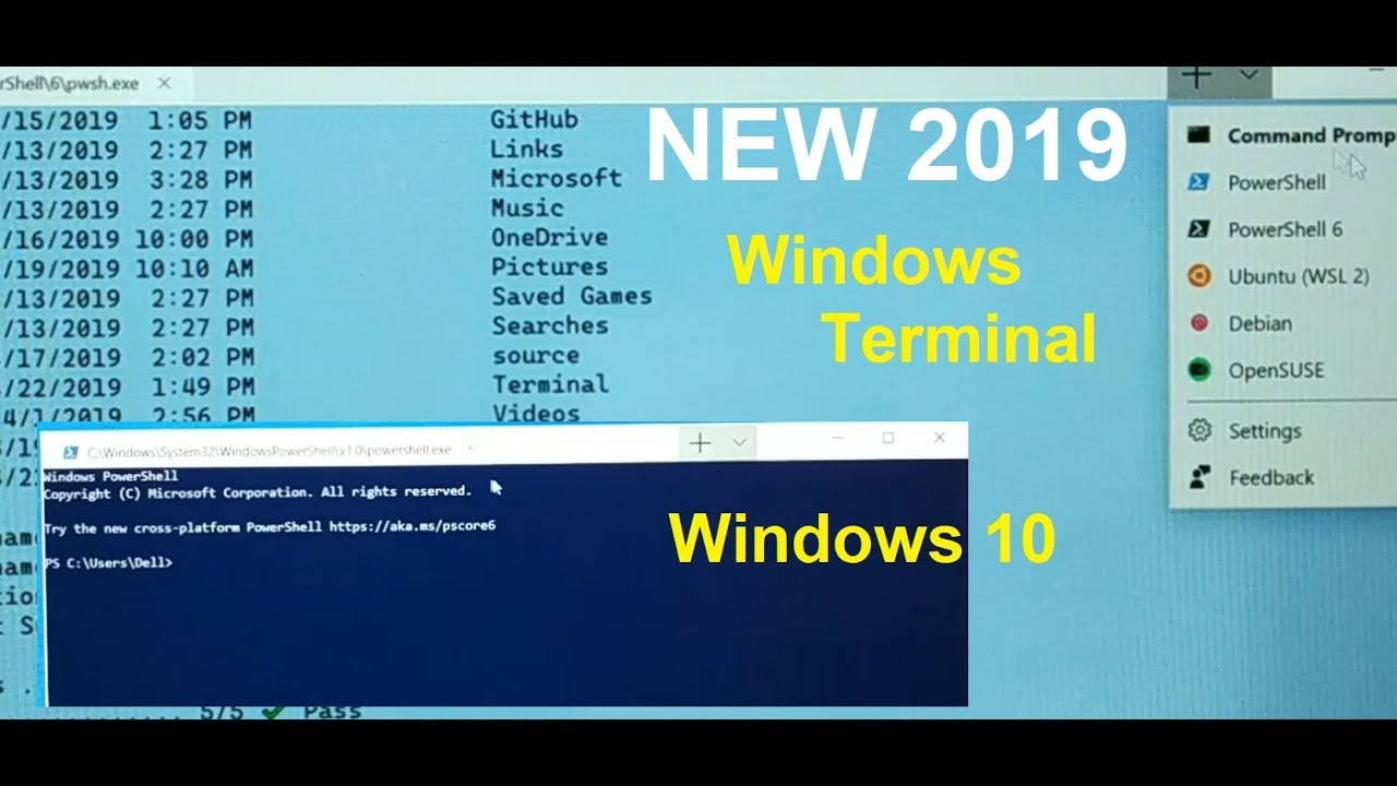 New Windows Terminal on windows 10 Install Guide and Walk Through [2019]
