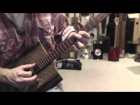 How to play Stairway to Heaven on a 3 string guitar  Cigar Box Guitar lesson