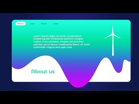Animated PowerPoint Slide Design tutorial/Website design in PowerPoint thumbnail