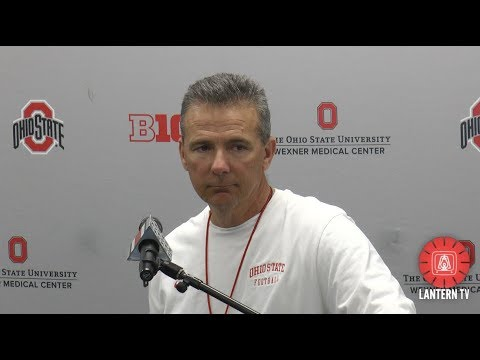 Ohio State HC Urban Meyer press conference after spring practice on 3/6.