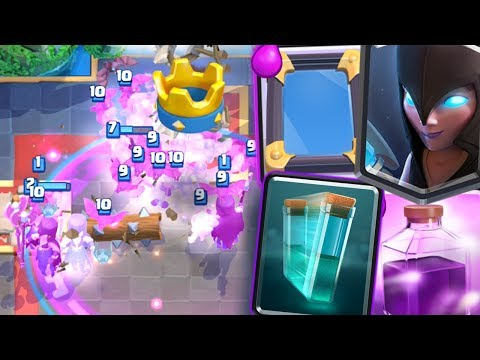 Clash Royale - 12 WIN NIGHT WITCH CLONE MIRROR DECK!