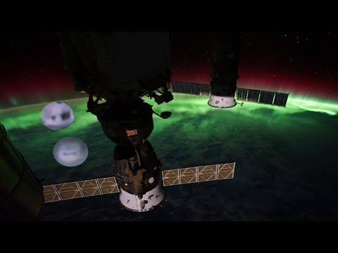 Weird 2 Cube ufo objects NASA tv cuts live video