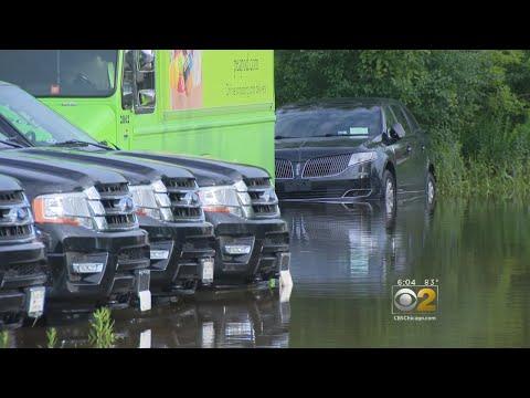 Floods Destroy New Cars At Dealership