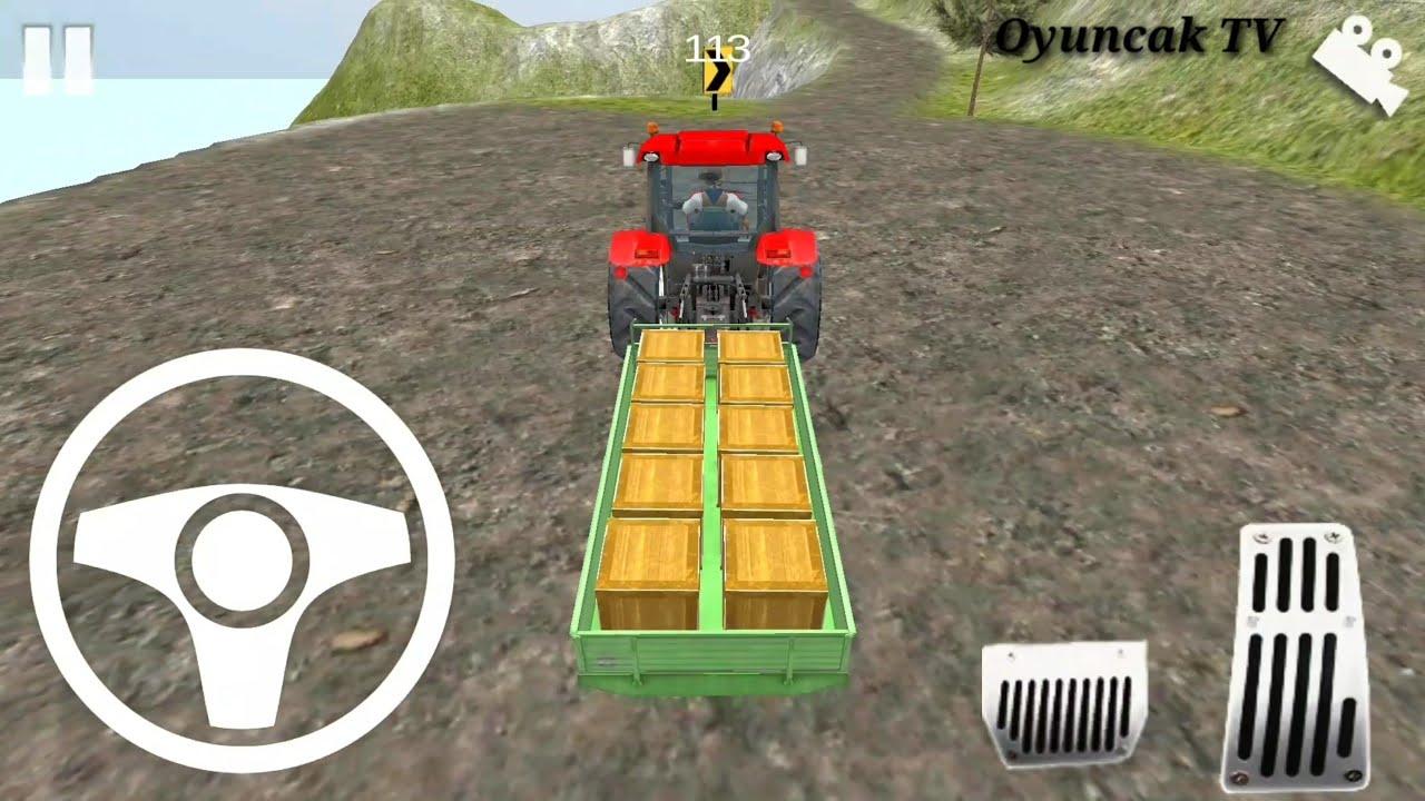 direksiyonlu traktör oyunu araba oyunları kamyon kepçe videoları çizgi film animasyon
