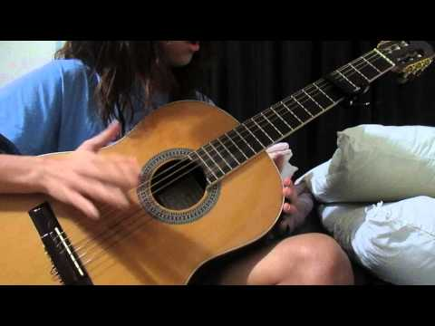 "Open tuning finger style guitar -""Turkey Jam""- ?Luna Lee?"