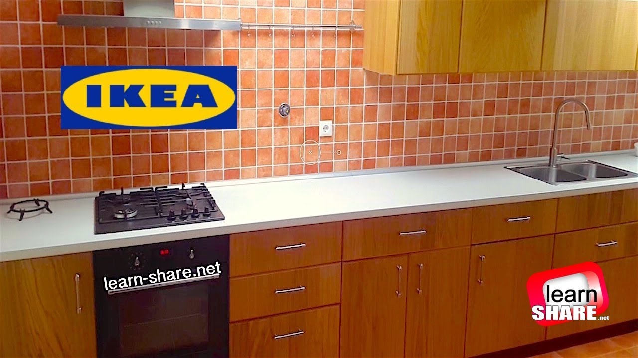 Ikea metod kitchen installation in 10 minutes youtube - Ikea corner cabinet door installation ...