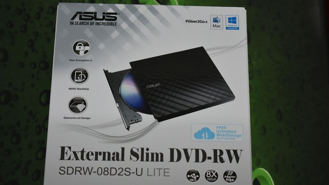 DOWNLOAD DRIVERS: ASUS EXTERNAL SLIM DVD-RW SDRW-08D2S-U