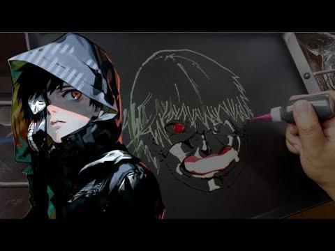 Pancake Art - Ken Kaneki (Tokyo Ghoul)