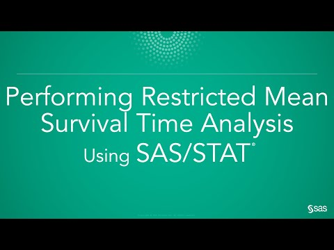 Performing Restricted Mean Survival Time Analysis (RMST) Using SAS/STAT