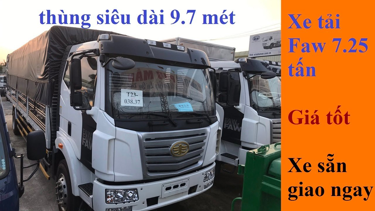Xe tải Faw 7.25 tấn thùng siêu dài 9,7 mét | Xe sẵn giao ngay | hỗ trợ trả góp nhanh toàn quốc