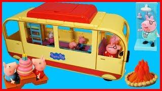佩佩豬粉紅豬小妹的旅行郊遊車玩具開箱