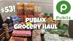 Publix Grocery Haul | Coupon + BOGO Deals = 50% Savings!