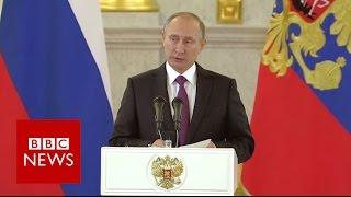 Vladimir Putin congratulates Donald Trump - BBC News