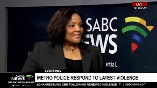 Metro police respond to latest violence