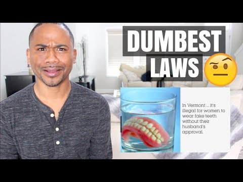 TOP 50 DUMBEST LAWS IN AMERICA | 50 WEIRD STATES