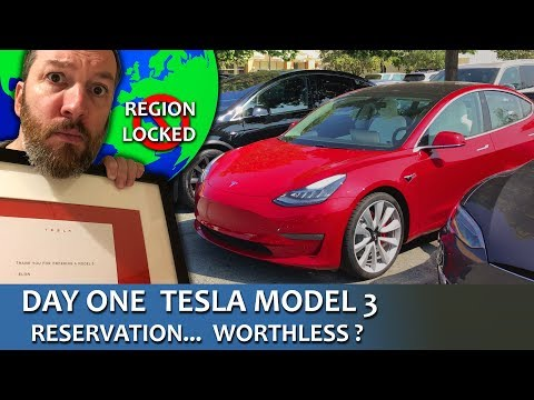 My Day 1 Tesla Model 3 Reservation Is Worthless? (UK Region Locked!)