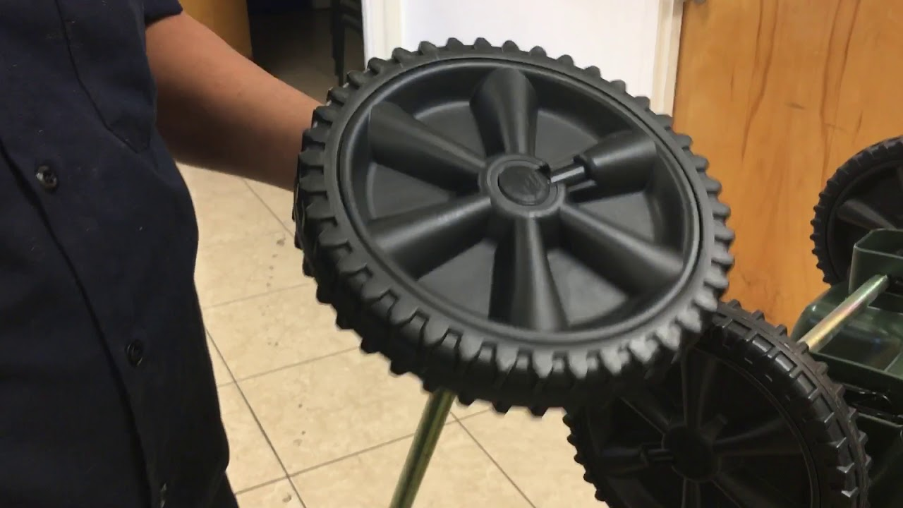 How To Remove A Wheel From The Roc Trash Can Youtube