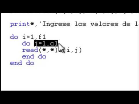 Comando Do Anidado en Fortran