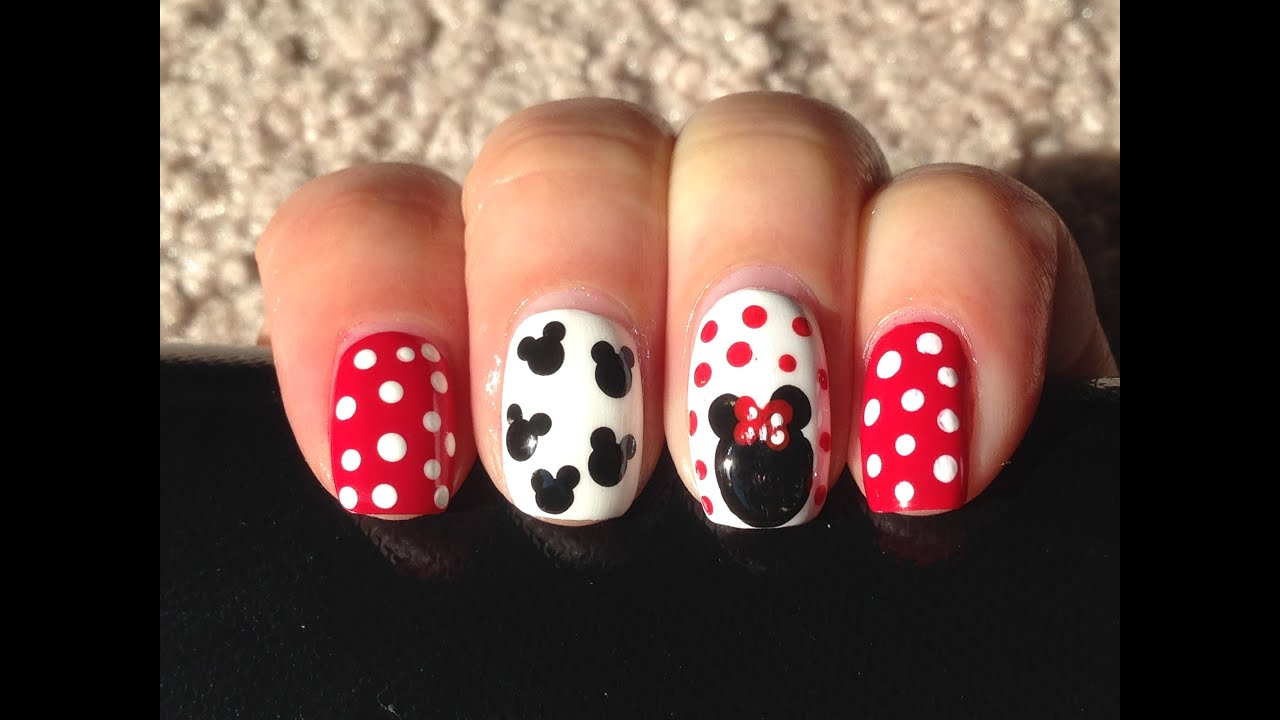 easy minnie mouse nail art beauty