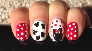 Easy Minnie Mouse nail art | Beauty Intact Thumbnail