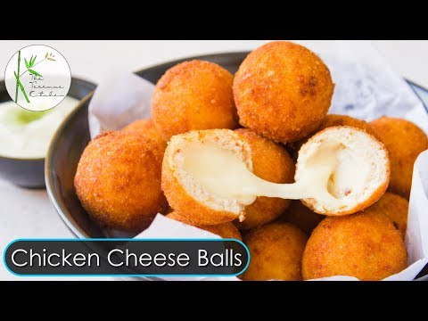 Chicken Cheese Balls Recipe   Cheesy Chicken Balls Recipe   Party Snack Recipe ~ The Terrace Kitchen