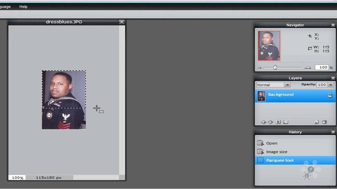 Pixlr Tutorial Photo Resizing Cropping Youtube