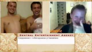 Teen guys two jerking Russian off