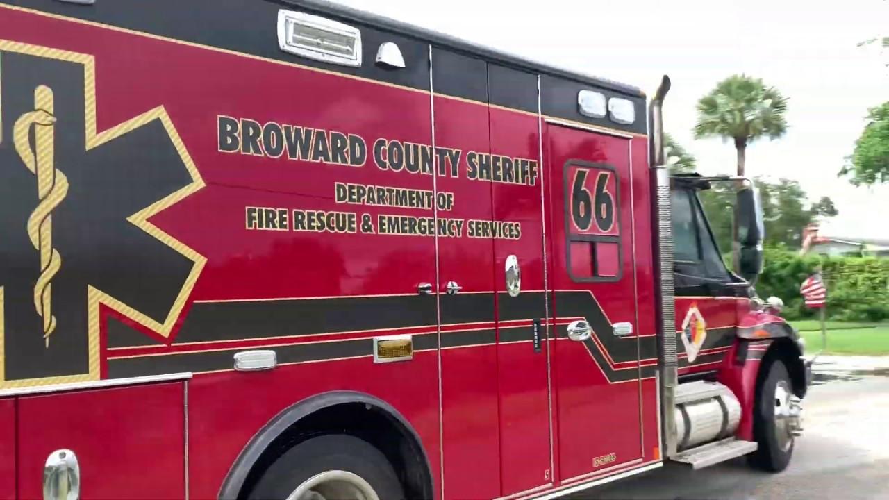 Broward County Sheriff Fire Rescue - Rescue 66 Responding
