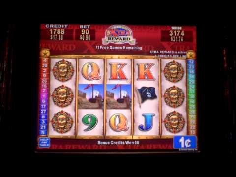 Pirate Rose Extra Reward with Retrigger Bonus Slot Machine Win at Sands Casino at Bethlehem