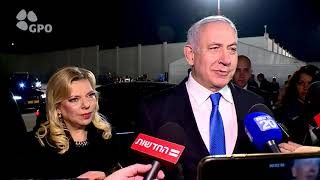 PM Netanyahu's Remarks Upon Departure to Warsaw