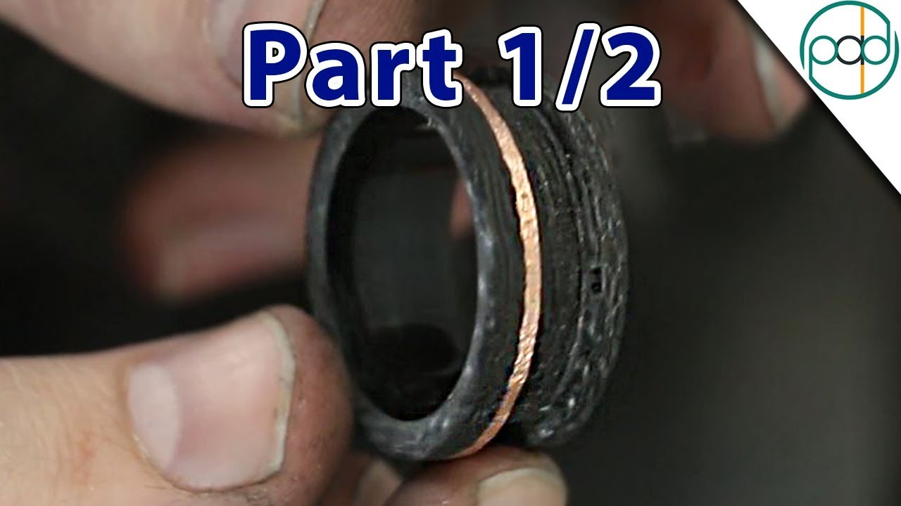 Making a Carbon Fiber Glowstone Ring Part 1/2 - YouTube