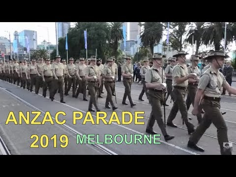 Anzac Day Parade 2019   Melbourne City Australia