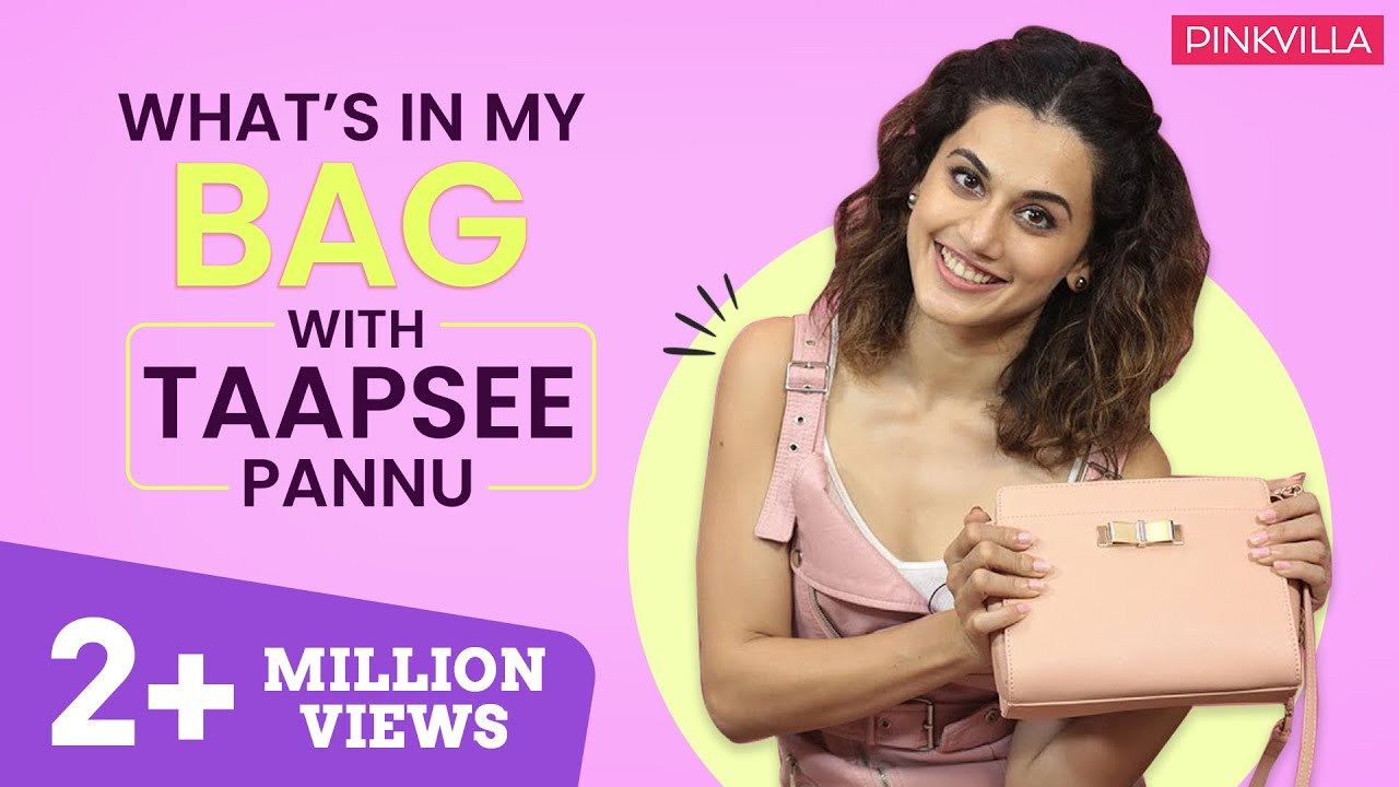What's in my bag with Taapsee Pannu   S03E04   Fashion   Bollywood   Pinkvilla