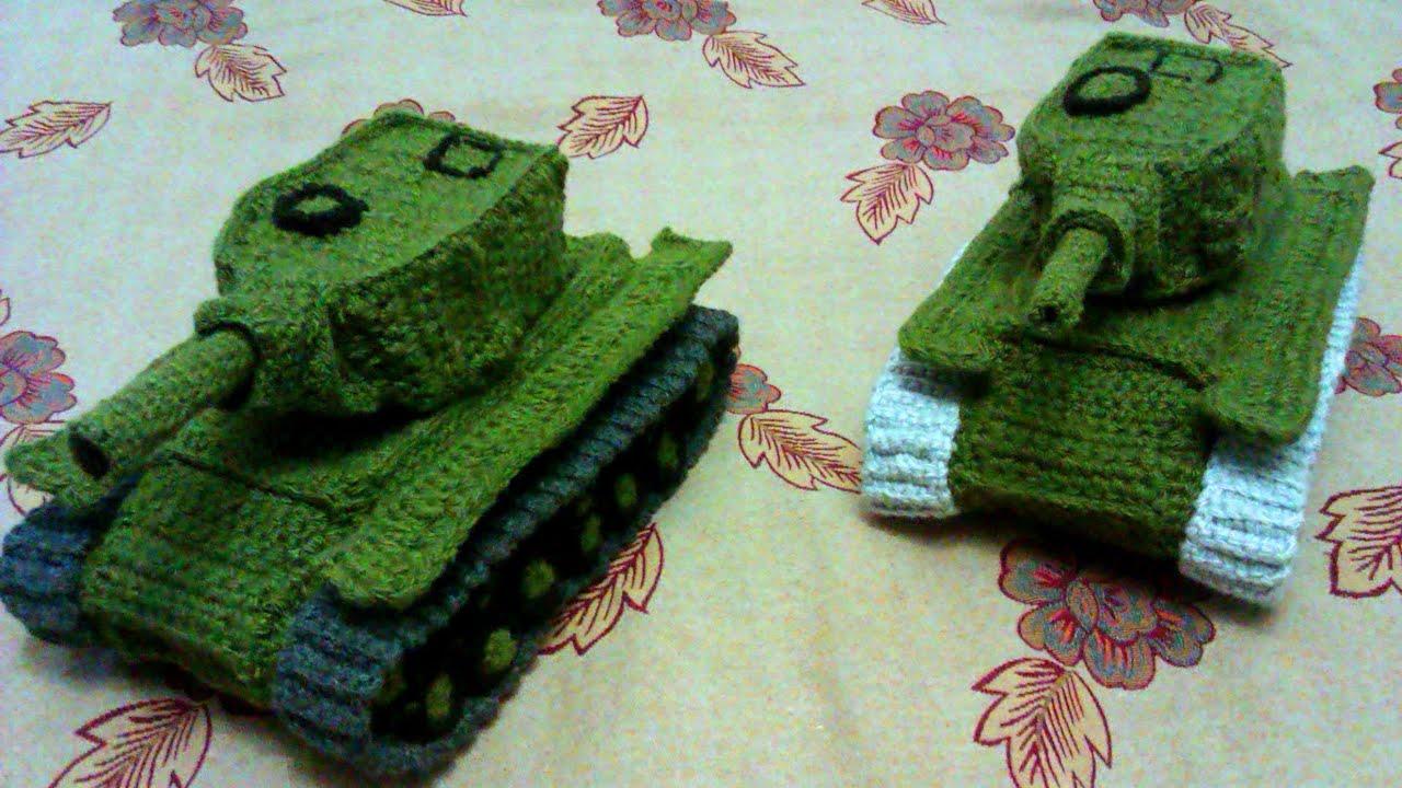 Схема для вязания танка 435