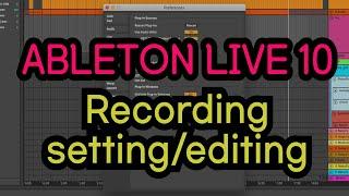 에이블톤 - Recording Setting&Editing/AbletonLive 10 Preference Setting