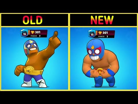 old VS new !!! Brawlers Brawl Stars