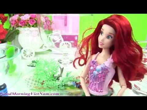 💝Làm Thủy Cung Cho Nàng Tiên Cá Ariel Bằng Chất Nhờn Slime Xanh / Slime Castle