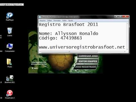 o jogo brasfoot 2011 registrado