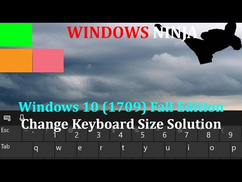 how to change font size in windows 10 1709
