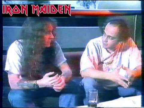 Steve Harris from Iron Maiden gives interview to Greek television in 1992