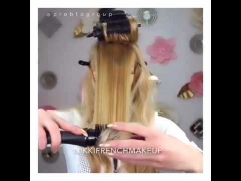 Nikki French Tutorials With CurlME And VolumizeME by Pro Blo Group. Hollywood Glamour Inspired