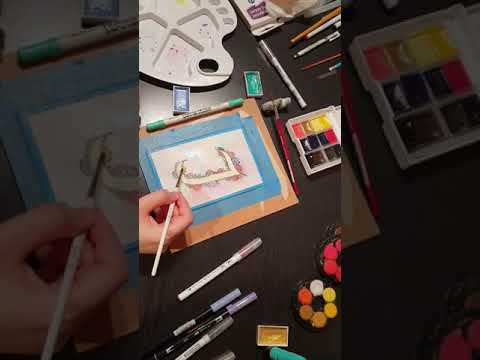 Cardmaking for beginners: watercolour floral patern -hyperlapse (part 1)