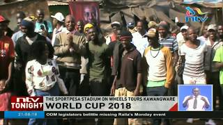 The Sportpesa Stadium on wheels tours Kawangware