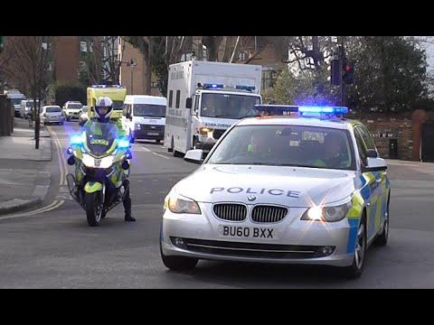 Metropolitan Police Escorting a British Ebola Patient to hospital