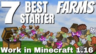 7 EASY Minecraft Starter Farms for 1.16: BEST Minecraft Farms for the Start of the Game (Avomance)